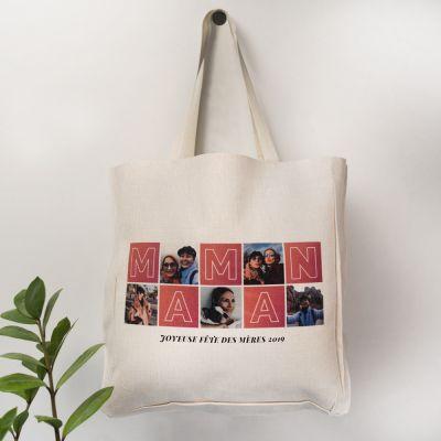 Cadeau fête des mères - Sac Personnalisable Mama avec Photos
