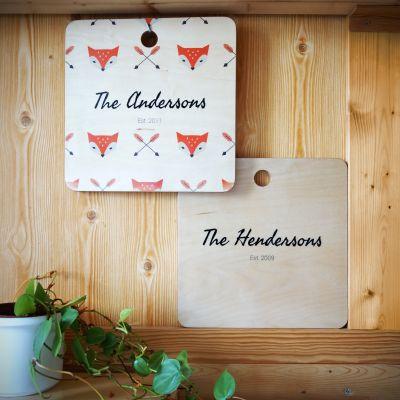 Cadeaux en bois exclusifs - Planche à découper personnalisable Couple