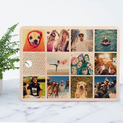 Cadeau 50 ans - Planche à découper personnalisable avec 11 images