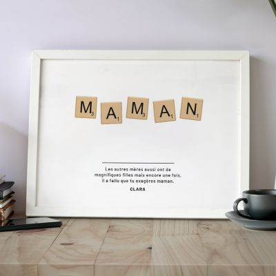 Posters exclusifs - Poster Personnalisable Scrabble