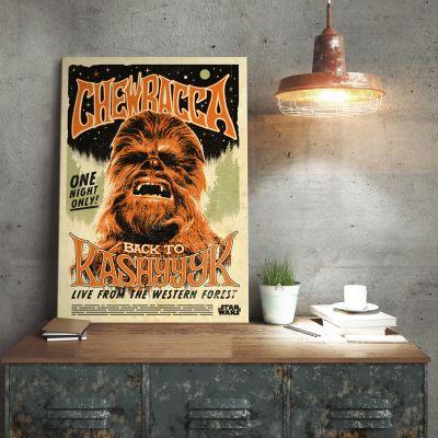 L'univers Star Wars - Poster métallique Star Wars – Chewbacca