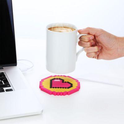 Ordinateur & Gadgets USB - Chauffe-tasse USB coeur