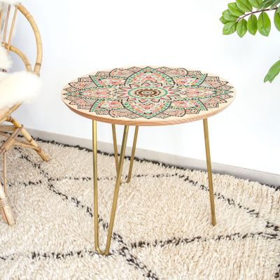 Cadeaux en bois exclusifs - Petite Table d'appoint Mandala
