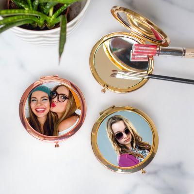 Cadeau 50 ans - Miroir de poche personnalisable avec photo