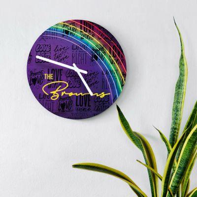 Cadeau couple - Horloge Personnalisable avec Effet Néon