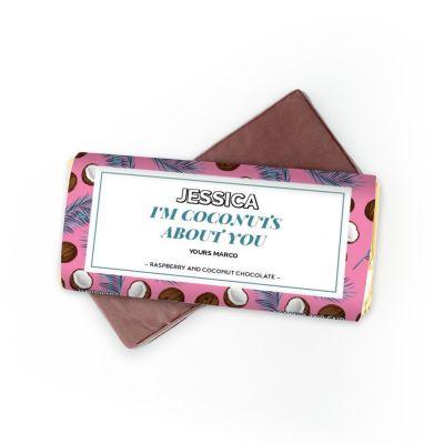 Cadeau frère - Chocolat avec 4 lignes