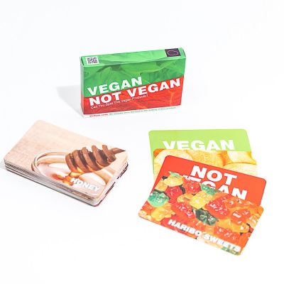 Idées cadeaux pour mettre dans le calendrier de l'avent - Vegan oder nicht vegan Kartenspiel