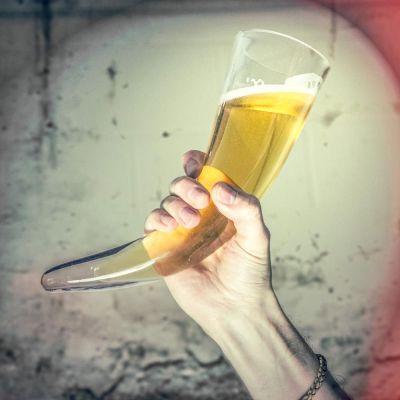 Verres & Mugs - Corne à boire Viking en Verre