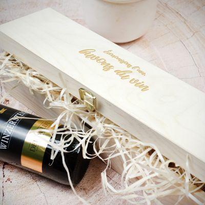 Cadeau 50 ans - Boite à Vin en Bois Personnalisable