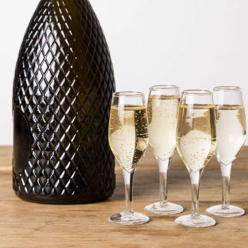 Idée cadeau - Verres à shot en forme de flûtes à Champagne - Lot de 4