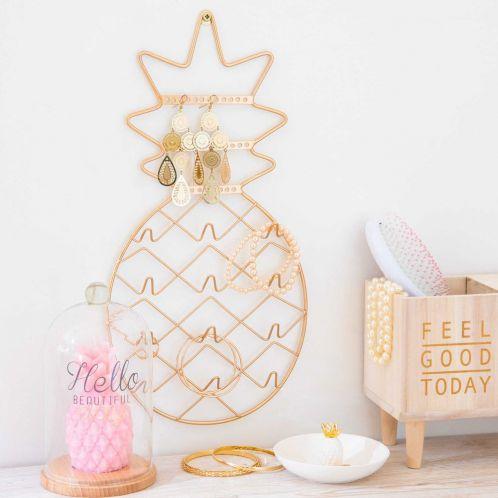 Idée cadeau - Porte-bijoux Ananas