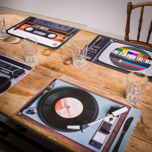 Idée cadeau - Sets de table Rétro – 4 pièces