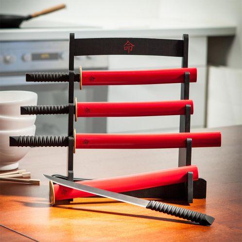 Cadeau de Noël - Le kit montant couteaux de cuisine Samouraï