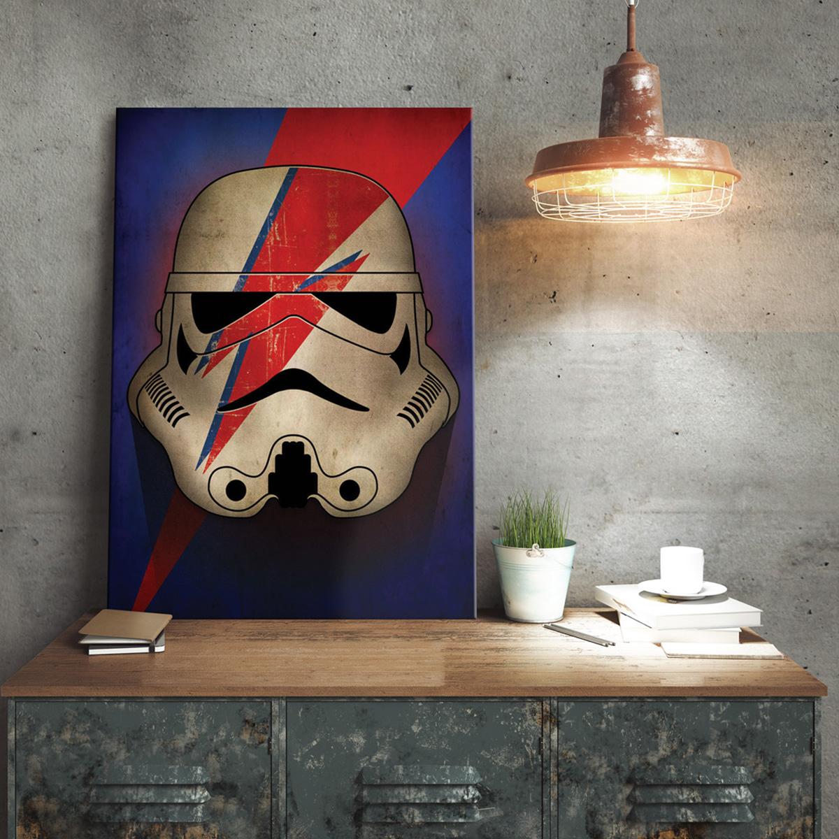 Poster métallique Star Wars - Stormtrooper Ziggy