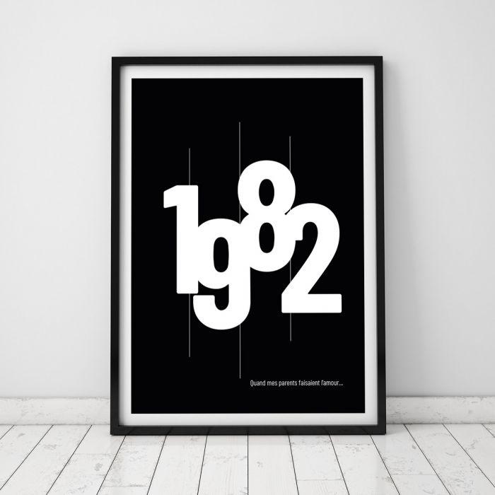 Cadeau Personnalisé : le poster année de naissance